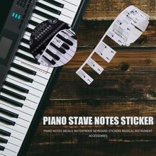 Transparent Piano Sticker 88 Key Keyboard Electronic 61/88 Stave Note For Keys