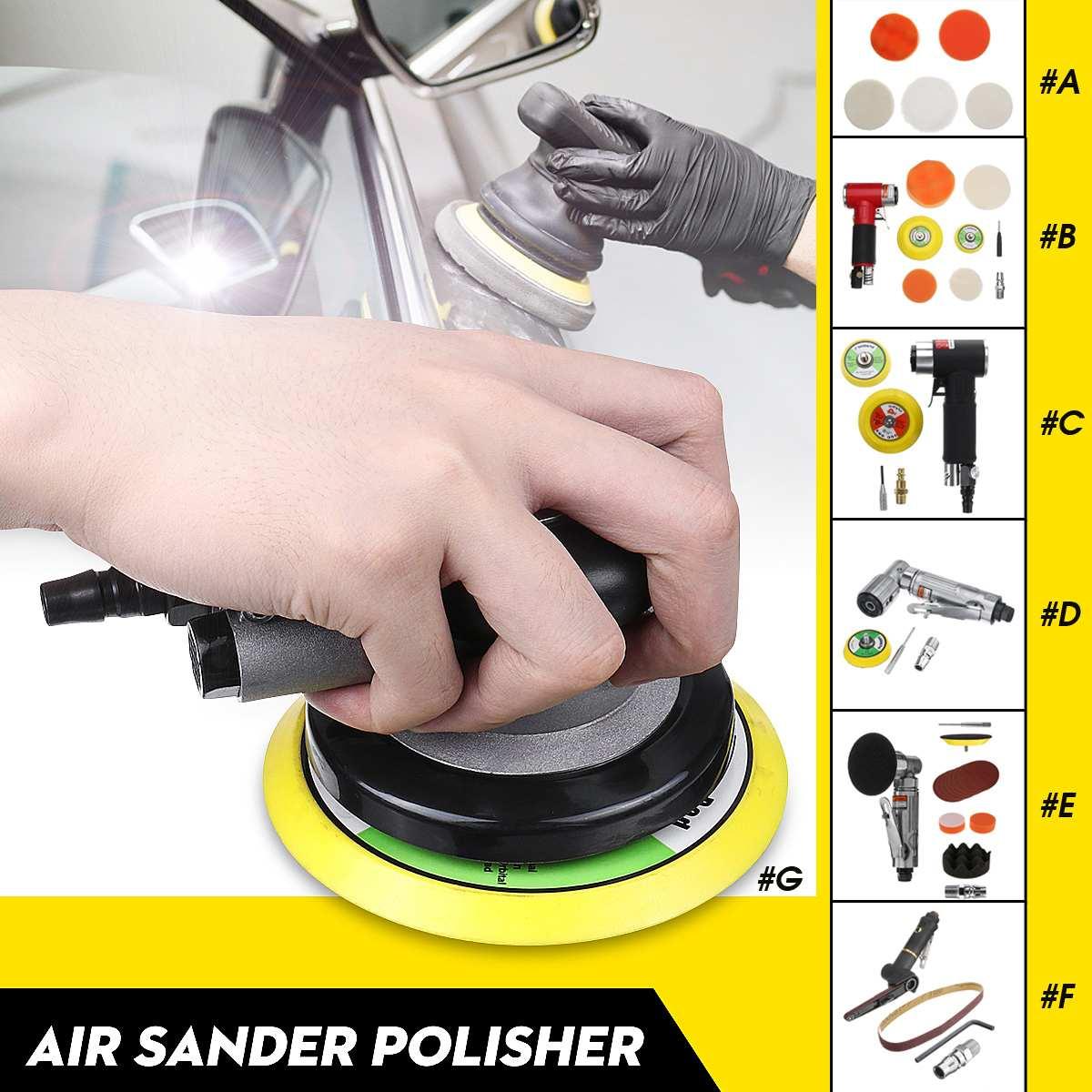 Air Sander Polisher Dual Action Random Orbital Polishing Pad Car Pneumatic Grinding For Car Paint Care Tool