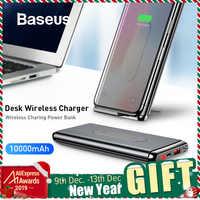 Baseus 10000mAh Caricatore Senza Fili QI Accumulatori e caricabatterie di riserva Per il iPhone Samsung PD + QC3.0 Veloce di Ricarica USB Powerbank Batteria Esterna