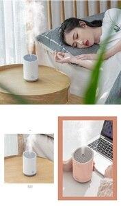 Image 3 - Xiaomi mini usb umidificador casa escritório luzes coloridas sem fio portátil purificador de ar umidificação pulverizador 320ml