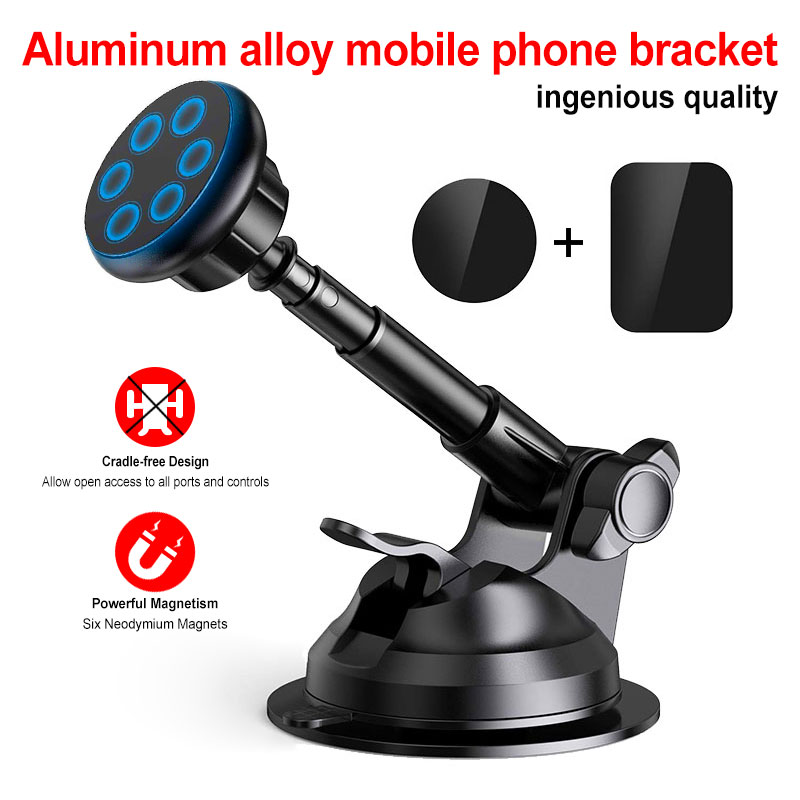 Magnetic Car Phone Holder for Car Windshield Dashboard Mount with Adjustable Cradle Universal Phone Holder for iPhone X 7 8 Plus|Phone Holders & Stands| |  - title=