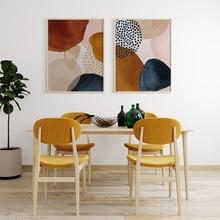 Canvas Poster Art Wall-Art Print Golden-Fluid Abstract Nordic Modern Home Living-Room-Decoration