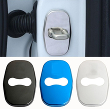 4Pcs/Set Car Door Lock Cover Stainless Steel Interior Accessories for Peugeot 207 301 308 408 508