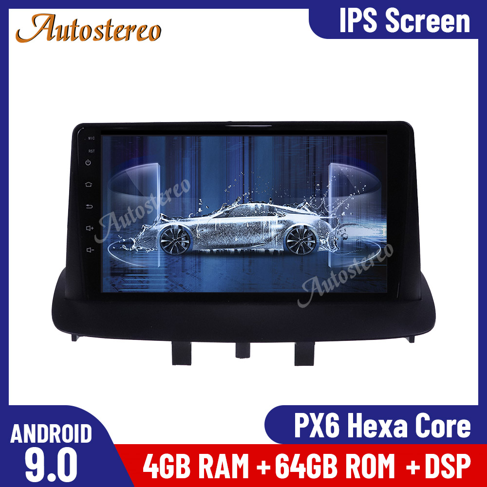 Android 9.0 64G Car Radio <font><b>GPS</b></font> Navigator Unit For Renault <font><b>Megane</b></font> <font><b>3</b></font> 2009-2015 Multimedia Player Auto Stereo Head Unit Radio Record image
