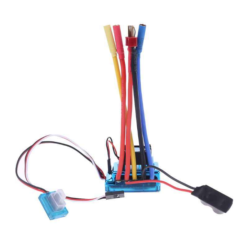 Impermeable 45A 60A 80A 120A sin escobillas ESC eléctrico controlador de velocidad a prueba de polvo para 1/8 de 1/10 1/12 coche RC Crawler RC Barco de la parte