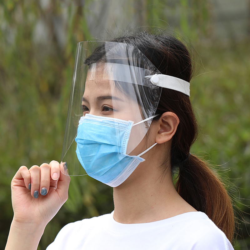 5pcs Transparent Protection Mask Anti-shock Anti-splash Light Weight Face Masks For Daily Kitchen Cooking Labor Lab Working