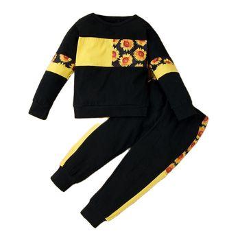 LZH małe dziewczynki ubrania babie lato dzieci chłopcy ubrania Top + spodnie 2 szt strój garnitur dzieci kostiumy dla dziewczynek zestawy odzieżowe tanie i dobre opinie Na co dzień CN (pochodzenie) Z kapturem Sweter boys clothes Poliester COTTON Pełna REGULAR Pasuje prawda na wymiar weź swój normalny rozmiar