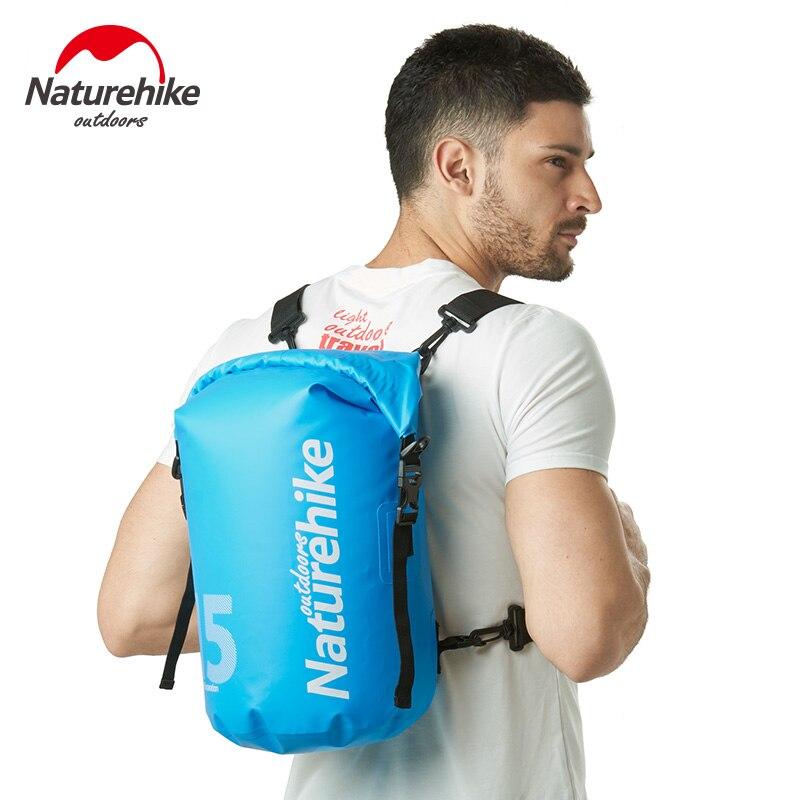 Bolsa impermeable para exteriores Naturehike, bolsa de natación con separación húmeda seca, bolsa de playa para teléfono móvil, bolsa para snorkel