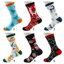 Рождественские носки для женщин и мужчин, с Новым годом, забавные носки с мультяшным принтом, милые носки в стиле Харадзюку для женщин, рожде...