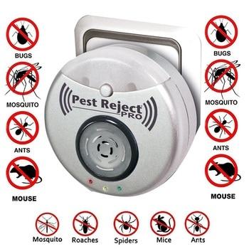 Repelente de plagas ultrasónico, anti insectos, ratas, moscas y mosquitos, 300 metros...