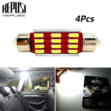 4x Car Led Festoon Lamp C5W License Plate Lights Reading 31mm 36mm 39mm 41mm For passat golf polo sedan scirocco caddy