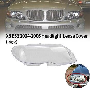 1Pcs Car Headlight head light lamp Lense Clear Lens Cover For-BMW X5 E53 2004-2006 Headlight Lens Cover(Right)