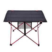 Mesa portátil ligera para exteriores, mesa plegable para acampar, de aleación de aluminio, para Picnic, barbacoa, actividades al aire libre