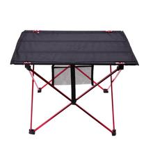 캠핑 테이블에 대 한 휴대용 경량 야외 테이블 알루미늄 합금 피크닉 바베 큐 접는 테이블 야외 활동 Tavel 테이블