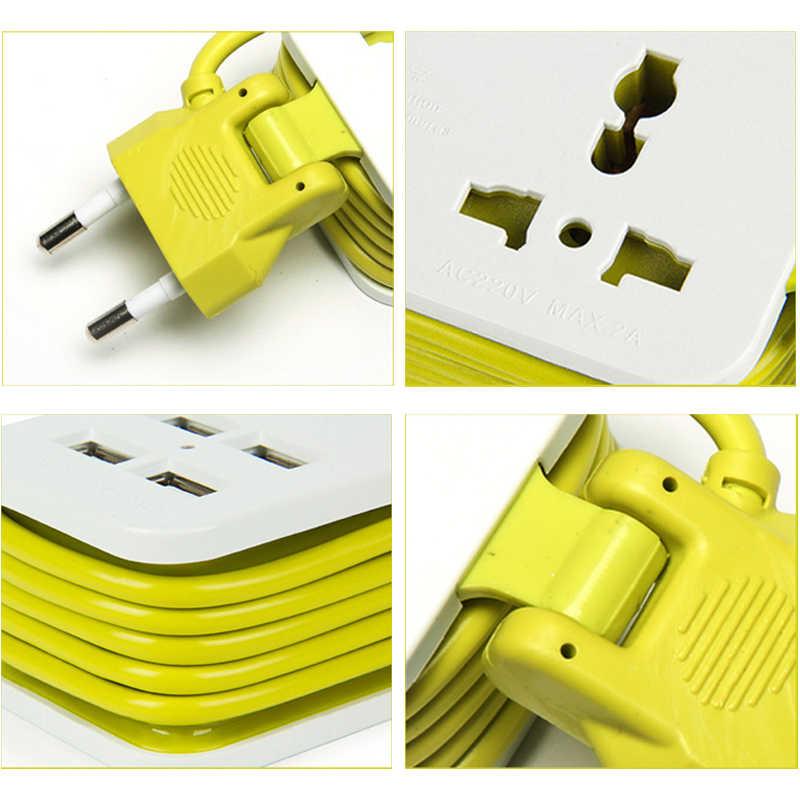 EU Cắm Ổ Cắm Điện Thông Minh Dây Nhiều Ổ điện 1200W 250V 4 USB 1/2 Ổ Cắm 1.5m cáp dành cho Điện Thoại Di Động Viên