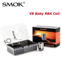 Oryginalny SMOK TFV8 dziecko RBA cewka V8 dziecko RBA szkło dla 3ml TFV8 pojemnik dla niemowląt DIY rdzeń dla TFV8 Atomizer dla dziecka odporność tanie tanio TFV8 BABY RBA COIL 3ml TFV8 BABY or 5ml TFV8 Big Baby Tank DS Dual 1 v8 baby RBA Coil + Spare parts