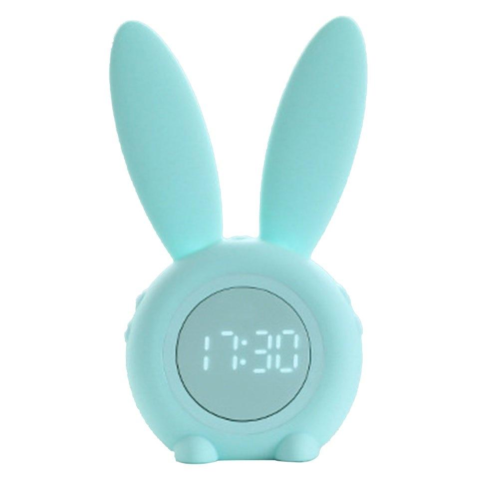 Portable Cute Rabbit Shape Digital Alarm Clock With Led Sound Night Light Function Table Wall Clocks For Home Decoration Alarm Clocks    - AliExpress