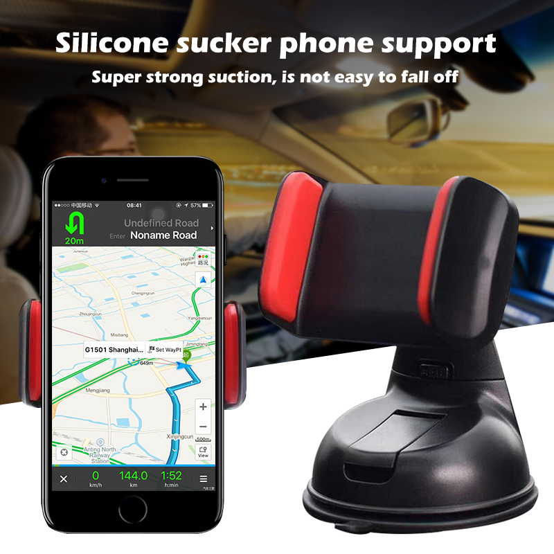 Universal Car Phone Holder Non-slip Mobile Phone Mount Stands No Magnetic Dashboard Mount Bracket Mobile Phone Clip