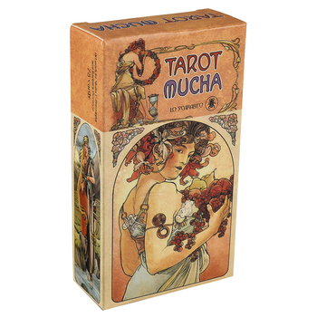 Tarot Mucha Tarot Cards Box Game Mermaid Tarot Deck Table Card Board Games Party Playing Tarot Cards Entertainment Family Games карты таро u s games systems мечты гайи dreams of gaia tarot