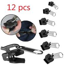 6/12 pçs 3 tamanhos universal kit de reparo instantâneo com zíper substituição zip slider dentes resgate novo design zíperes costura roupas