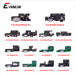 Charging Port Connector Board Parts Flex Cable With Microphone Mic For XiaoMi PocoPhone F1 Redmi Note 8 7 6 5 Pro Plus 7A 6A S2(China)