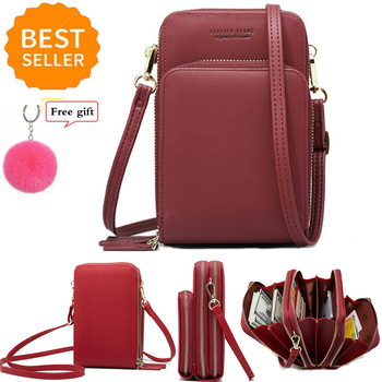 New Women High quality Fashion Crossbody Phone Bag Small  Mini Leather Cross Body Cell