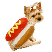 Outfit Pet-Costume Bread-Clothing Hotdog-Shape Winter for Funny Christmas Stylish
