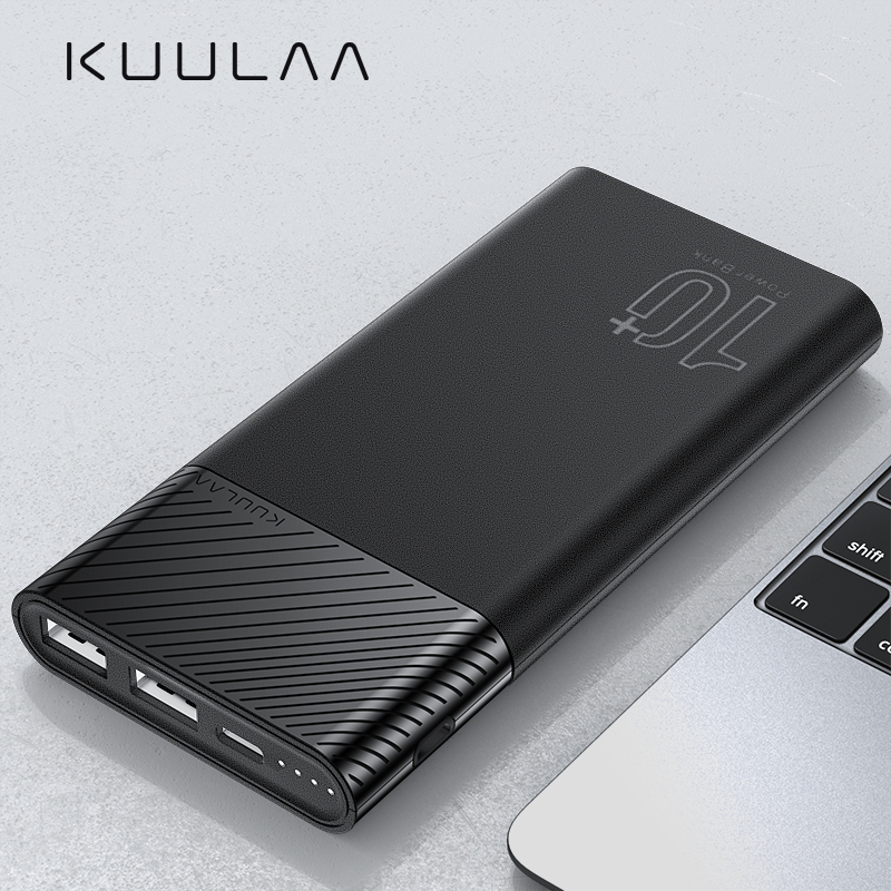 KUULAA Power Bank 10000mAh PowerBank Portable Charging Poverbank 10000 MAh USB External Battery Charger For Xiaomi Mi 10 IPhone