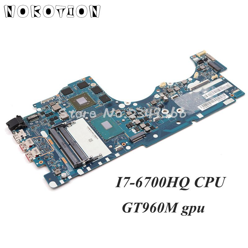 NOKOTION BY511 NM-A541 Main Board For Lenovo ideapad Y700 Y700-15ISK Laptop Mortherboard <font><b>I7</b></font>-<font><b>6700HQ</b></font> <font><b>CPU</b></font> DDR4 GTX960M 4GB image