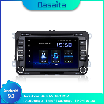 "Android 9.0 2 din Car Radio 7"" Display Car DVD Player with Built-in GPS  1080P Video for VW Golf Polo Passat Tiguan EOS 4G RAM"