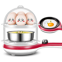 Non stick Pot Pancake Machine Automatic Power off Egg Steamer Electric Frying Pan Fully Automatic Cook Eggs Omelette Machine Gif