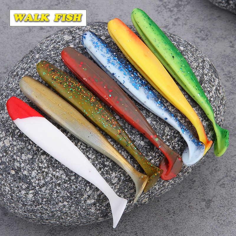 Anzuelo de paseo 6 uds 7 cm/2,1g 9 cm/4,1g Crankbaits Easy Shiner suave Señuelos de Pesca carpa pesca océano