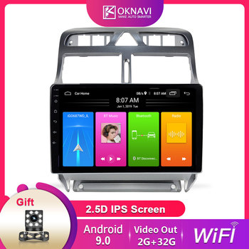 Android 9.0 For Peugeot 307 307CC 307SW 2002-2013 Multimedia Stereo Car Multimedia Player Navigation GPS Camera WIFI SWC Radio image