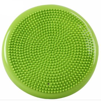 Durable Inflatable Yoga Massage Ball Pad Universal Sports Gym Fitness Yoga Wobble Stability Balance Disc Cushion Mat 37cm universal healthy wobble balance board stability disc yoga sport training fitness exercise waist wriggling round plate game