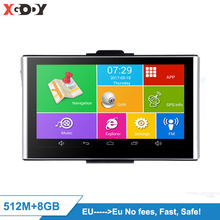 "XGODY 7 ""Android Auto DVR GPS Navigation 512M 8GB Touchscreen WiFi AvIn Kostenloser EU Karte 2020 Dashcam navigator(China)"