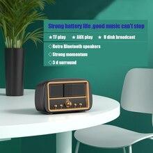 NEW HM13 RETRO TV MINI TV Bluetooth Speaker Subwoofer Wireless Bluetooth Small Stereo Speaker Built-in Mic Calls Speaker Orador