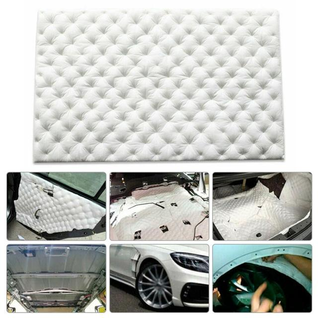 Protector Accessory Car White Deadening Cotton Insulation Sound Proofing Foam Closed Cell Door Chassis Front Cover 80*50cm