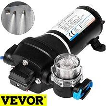 VEVOR-bomba de agua de diafragma FL-30/40, 12V, 17L/Min, alta presión, autocebante, potenciador, protección térmica