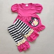 Mais novo da criança menina boutique outfit atacado bebê verão outfit alta qualidade bonito little girl boutique remake conjunto de roupas