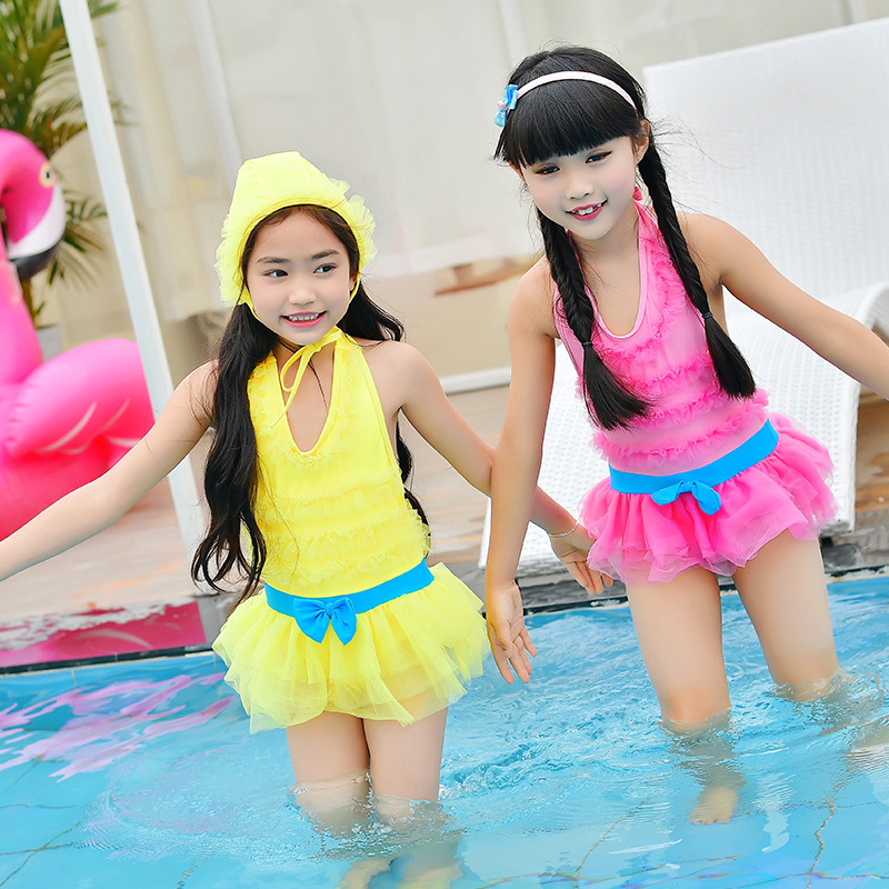 New Style One-piece Swimsuit For Children Cute Princess Dress One-piece Swimming Suit Children Baby Spa Resort Bathing Suit