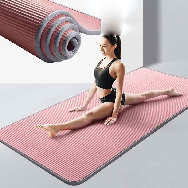 nrb tapis de yoga antiderapant extra epais avec bandes 10mm pour fitness pilates exercices xa146a