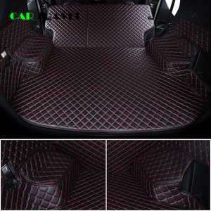 Image 3 - Custom leather Car Trunk Mats For mitsubishi pajero sport outlander x grandis ASX Lancer Galant 2018 Car Cargo Rear Boot Liner