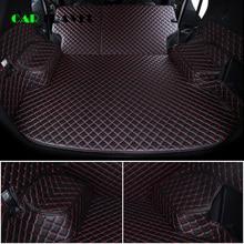 Niestandardowe skórzane maty do bagażnika samochodu dla mitsubishi pajero sport outlander x grandis ASX Lancer Galant 2018 Car Cargo tylna wkładka do bagażnika