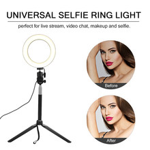 Dimmable LED Ring Light Wide Dimming Range LED Ring with Tripod for Camera Photo Studio Selfie Photography Video Youtube Makeup(China)