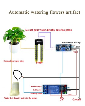 Automatic Irrigation Module DIY Kit for Soil Moisture Detection and Automatic Water Pumping