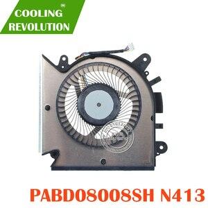 Novo original cpu ventilador de refrigeração para msi gf63 16r1 16r2 ventilador refrigerador do radiador pabd08008sh dc 5 v 1.0a n413