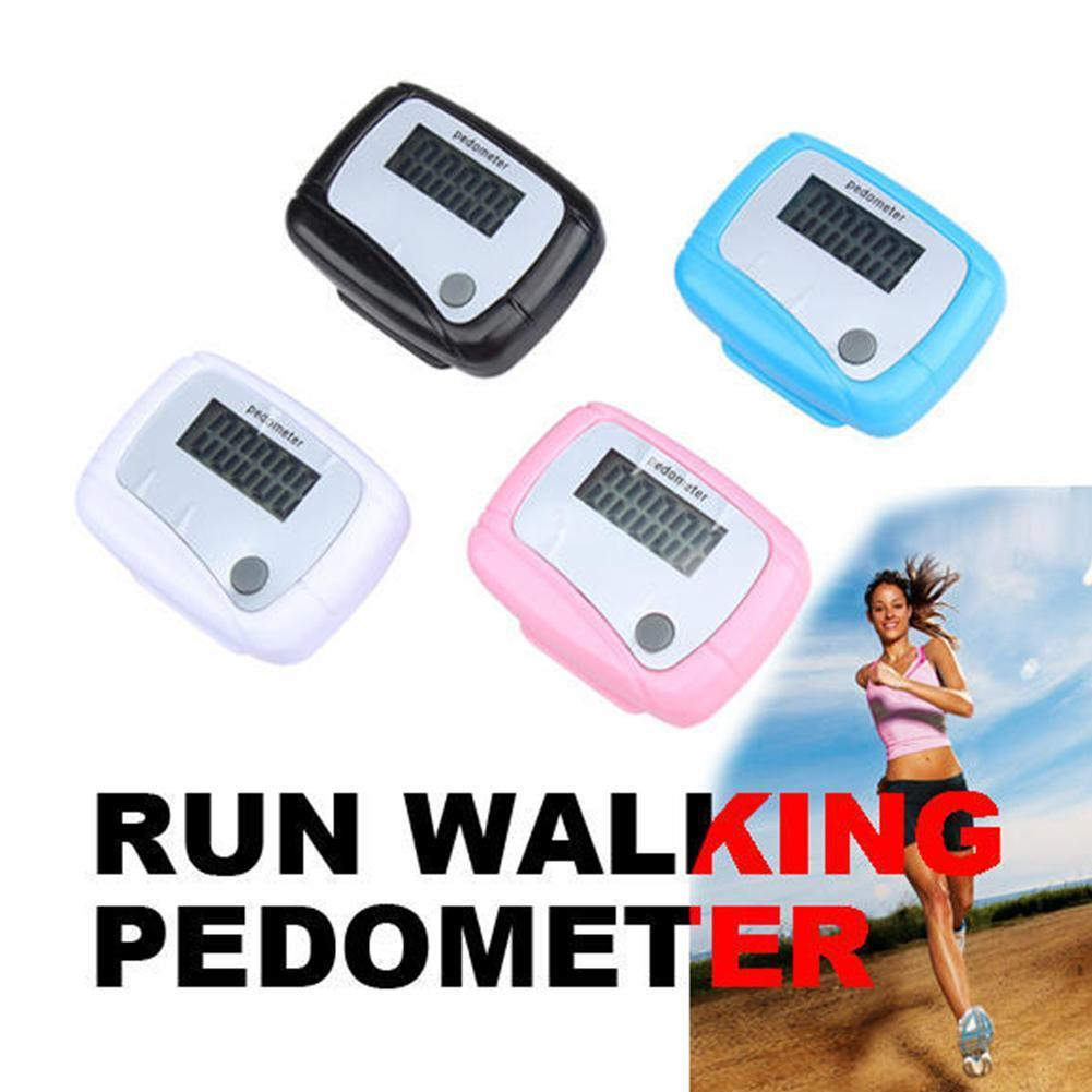 1pcsMultifunctional ЖК-дисплей шагомер калории километр счетчик Шагомер ходьбы цифровой карманный зажим мини аксессуар для бега