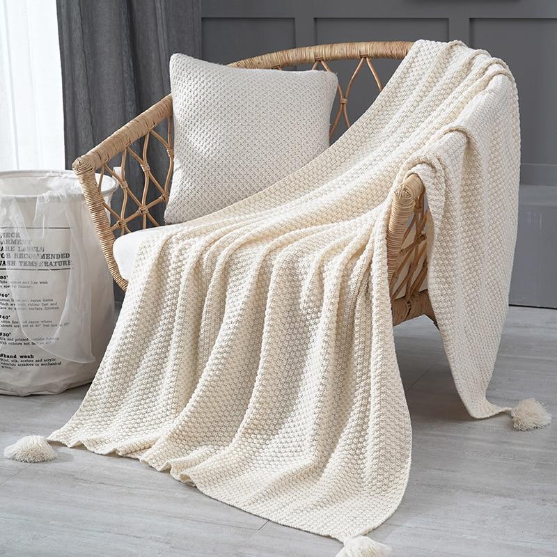 Allure Knitted Tassels Blanket