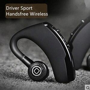 Image 1 - V9 Draadloze Voice Control Muziek Sport Bluetooth Handsfree Business Oortelefoon Bluetooth 4.1 Hoofdtelefoon Noise Cancelling Headset