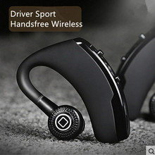 V9 لاسلكي التحكم الصوتي الموسيقى الرياضة بلوتوث يدوي الأعمال سماعة بلوتوث 4.1 سماعات إلغاء الضوضاء سماعة